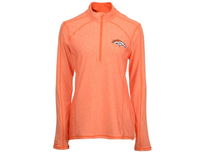 Denver Broncos Antigua NFL Women's Tempo Quarter Zip Pullover