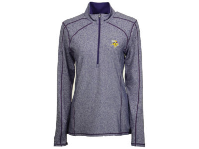 Minnesota Vikings Antigua NFL Women's Tempo Quarter Zip Pullover
