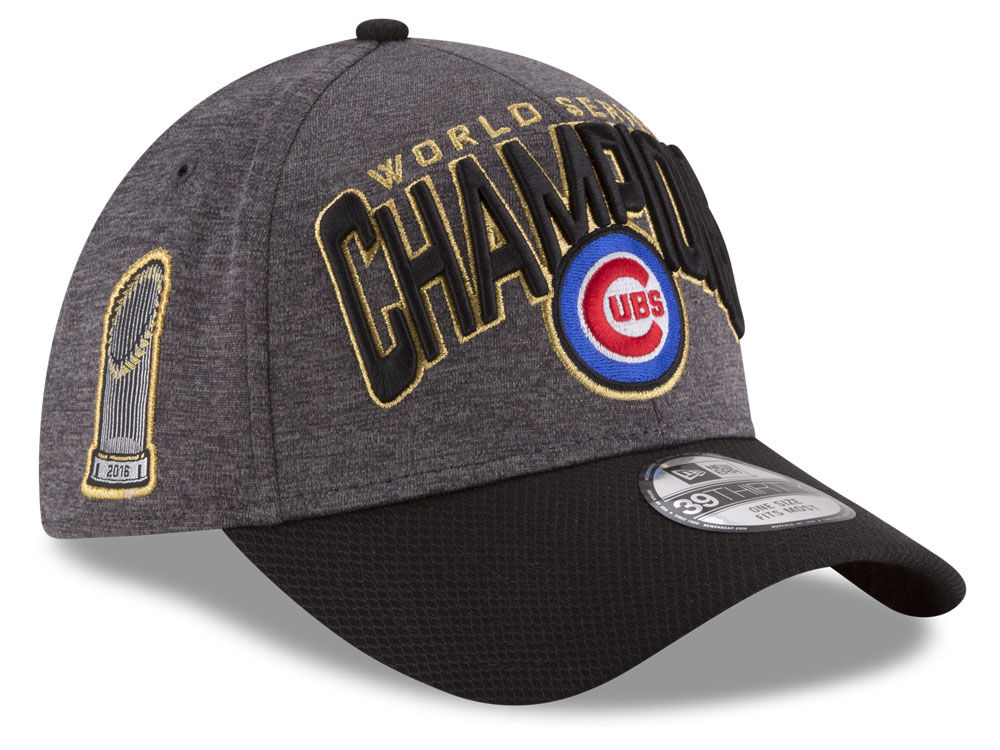 Chicago Cubs New Era MLB 2016 World Series Locker Room 39THIRTY Cap ... af7311d27ce