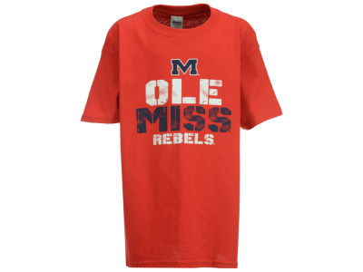 Ole Miss Rebels J America NCAA Men's Rough Stack Logo T-Shirt