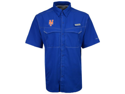 New York Mets MLB Men's Low Drag Short Sleeve Shirt