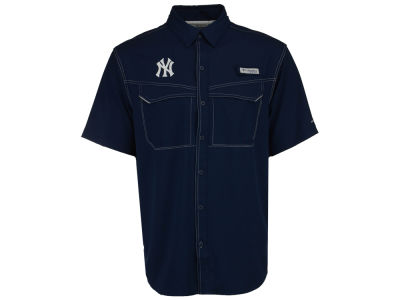New York Yankees Columbia MLB Men's Low Drag Short Sleeve Shirt