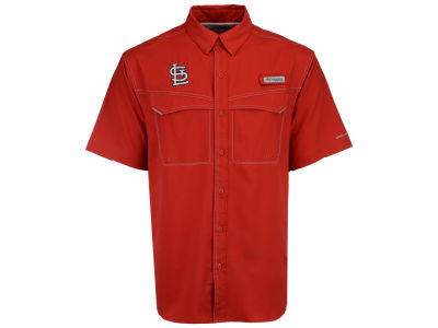 St. Louis Cardinals Columbia MLB Men's Low Drag Short Sleeve Shirt