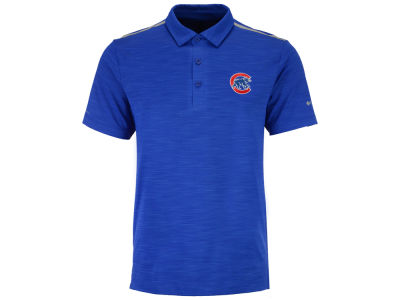 Chicago Cubs Columbia MLB Men's Omni-Wick Alignment Polo