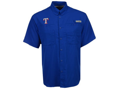 Texas Rangers Columbia MLB Men's Tamiami Shirt