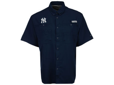 New York Yankees Columbia MLB Men's Tamiami Shirt