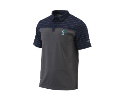 Seattle Mariners Columbia MLB Men's Omni-Wick Groove Polo