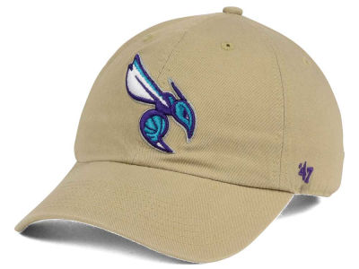 Charlotte Hornets '47 NBA Khaki '47 CLEAN UP Cap