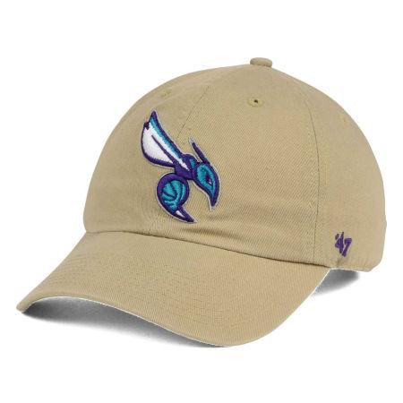 Charlotte Hornets '47 NBA Khaki '47 CLEAN UP Cap