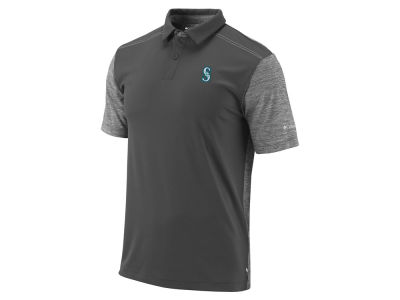 Seattle Mariners Columbia MLB Men's Omni-Wick Forged Polo