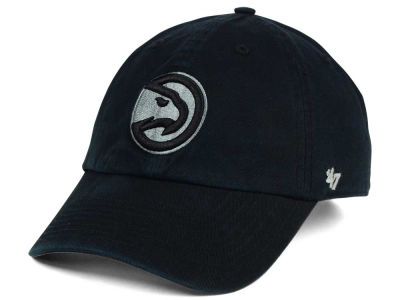 Atlanta Hawks '47 NBA Black Gray '47 CLEAN UP Cap