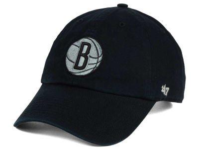 Brooklyn Nets '47 NBA Black Gray '47 CLEAN UP Cap