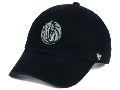 Dallas Mavericks '47 NBA Black Gray '47 CLEAN UP Cap