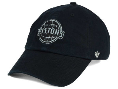 Detroit Pistons '47 NBA Black Gray '47 CLEAN UP Cap
