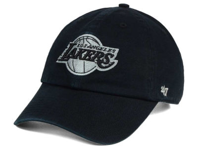 Los Angeles Lakers '47 NBA Black Gray '47 CLEAN UP Cap