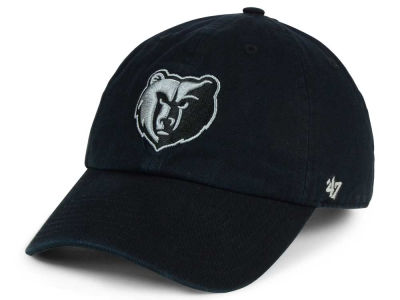 Memphis Grizzlies '47 NBA Black Gray '47 CLEAN UP Cap