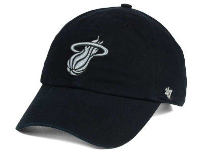 Miami Heat '47 NBA Black Gray '47 CLEAN UP Cap