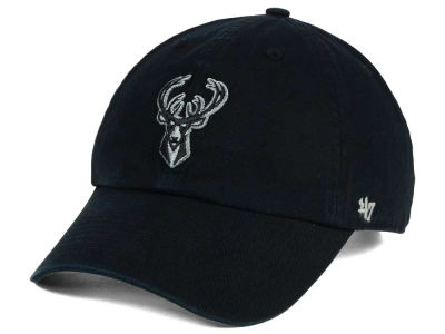 Milwaukee Bucks '47 NBA Black Gray '47 CLEAN UP Cap