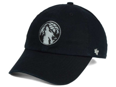 Minnesota Timberwolves '47 NBA Black Gray '47 CLEAN UP Cap