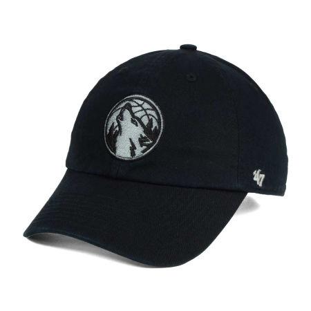 Minnesota Timberwolves '47 NBA Black Gray '47 CLEAN UP Cap