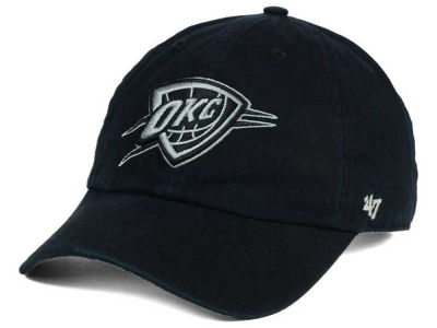 Oklahoma City Thunder '47 NBA Black Gray '47 CLEAN UP Cap