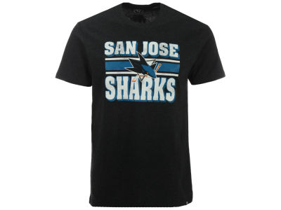 San Jose Sharks '47 NHL Men's Stripe Knockaround Club T-Shirt