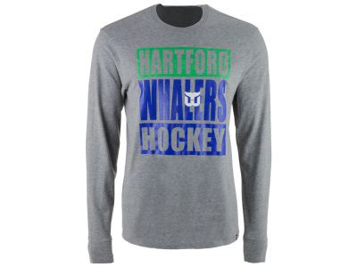 Hartford Whalers '47 NHL Men's Stacked Club Long Sleeve T-Shirt