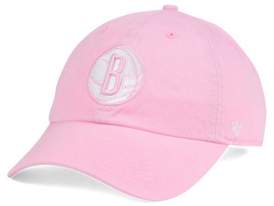Brooklyn Nets '47 NBA Petal Pink '47 CLEAN UP Cap