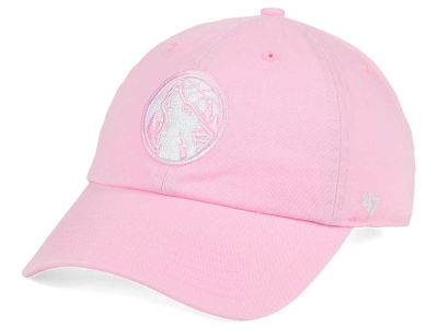 Minnesota Timberwolves '47 NBA Petal Pink '47 CLEAN UP Cap