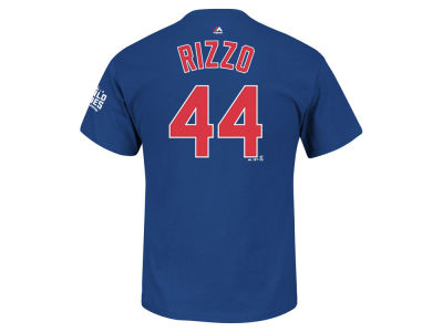 Chicago Cubs Anthony Rizzo Majestic MLB Men's 2016 World Series Patch Official Player T-Shirt