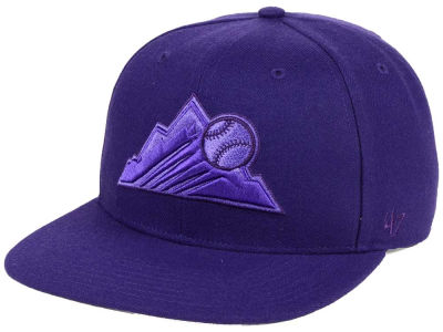 Colorado Rockies '47 MLB Triple Rush Sure Shot Snapback Cap