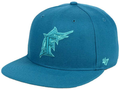 Miami Marlins '47 MLB Triple Rush Sure Shot Snapback Cap