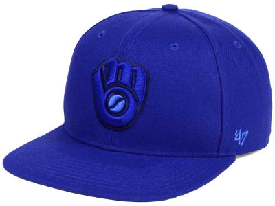 Milwaukee Brewers '47 MLB Triple Rush Sure Shot Snapback Cap