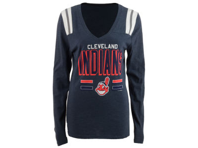 Cleveland Indians MLB Women's Free Kick Long Sleeve T-Shirt