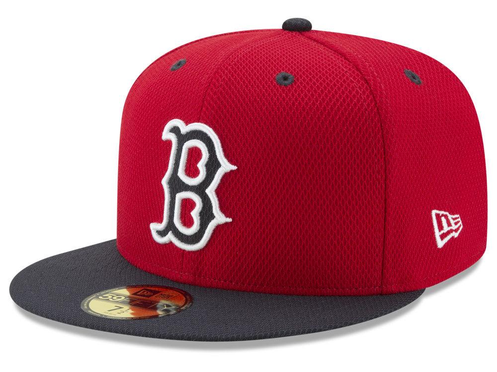 boston red sox new era mlb batting practice diamond era 59fifty cap - Boston Red Sox Bath Accessories