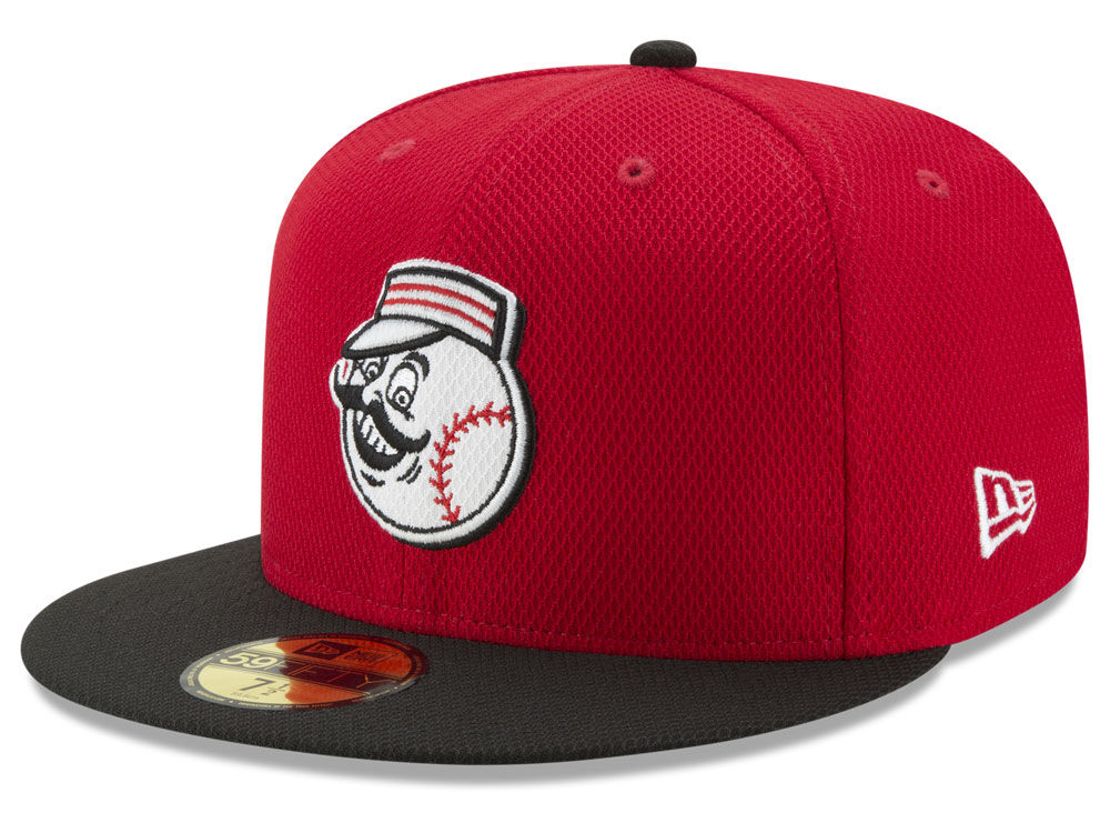 Cincinnati Reds New Era MLB Batting Practice Diamond Era 59FIFTY Cap ... 7f5301595cc
