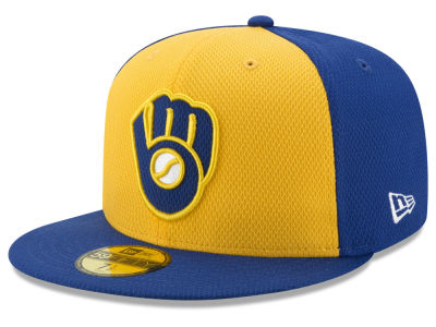 Milwaukee Brewers New Era MLB Batting Practice Diamond Era 59FIFTY Cap