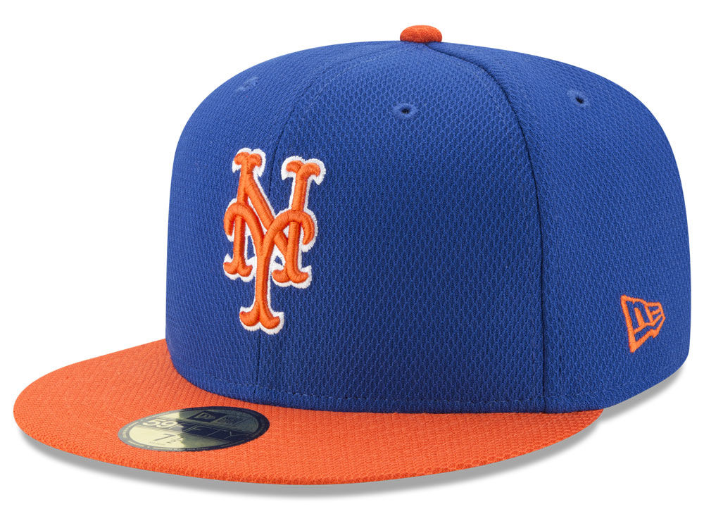 New York Mets New Era MLB Batting Practice Diamond Era 59FIFTY Cap ... c3870a7e31e
