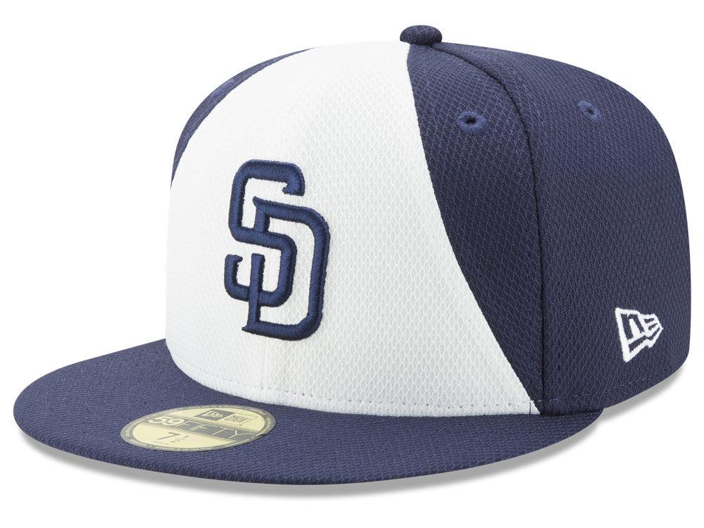 502652065ee San Diego Padres New Era MLB Batting Practice Diamond Era 59FIFTY Cap