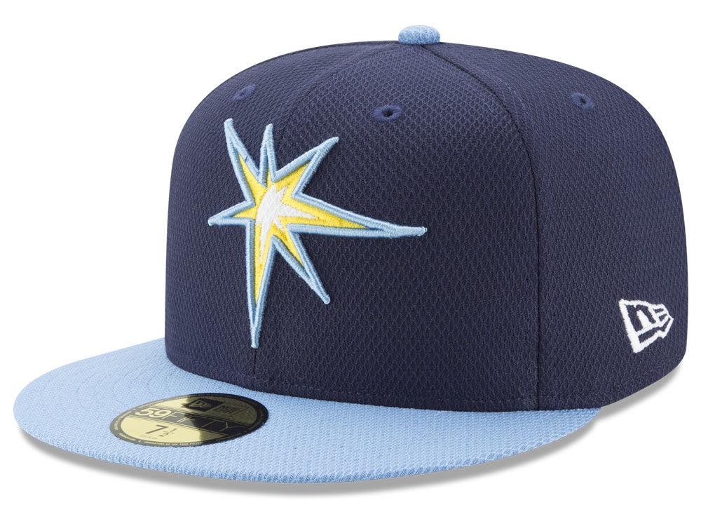 dc35bc894b5 Tampa Bay Rays New Era MLB Batting Practice Diamond Era 59FIFTY Cap ...