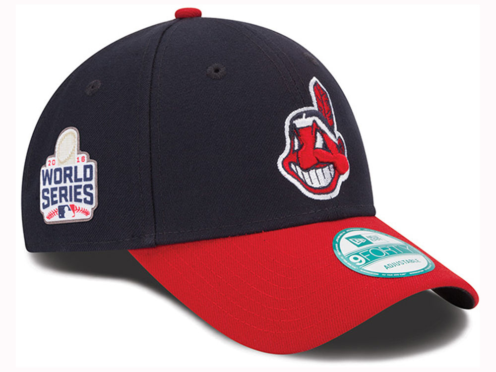 Cleveland Indians New Era MLB 2016 World Series Patch 9FORTY Cap ... 97a1763a3a2