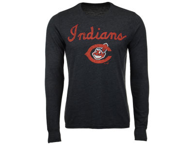 Cleveland Indians MLB Men's Coop Triblend Long Sleeve T-Shirt