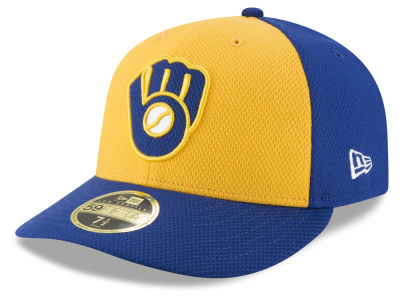 Milwaukee Brewers New Era MLB Batting Practice Diamond Era Low Profile 59FIFTY Cap