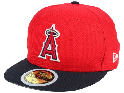 Los Angeles Angels New Era 2017 MLB Kids Batting Practice Diamond Era 59FIFTY Cap