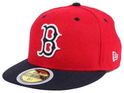 Boston Red Sox New Era 2017 MLB Kids Batting Practice Diamond Era 59FIFTY Cap