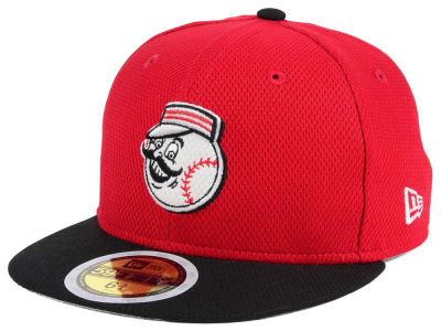 Cincinnati Reds New Era 2017 MLB Kids Batting Practice Diamond Era 59FIFTY Cap