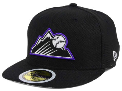 Colorado Rockies New Era 2017 MLB Kids Batting Practice Diamond Era 59FIFTY Cap