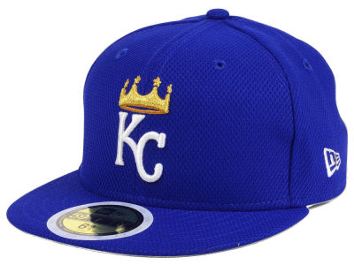 Kansas City Royals New Era 2017 MLB Kids Batting Practice Diamond Era 59FIFTY Cap