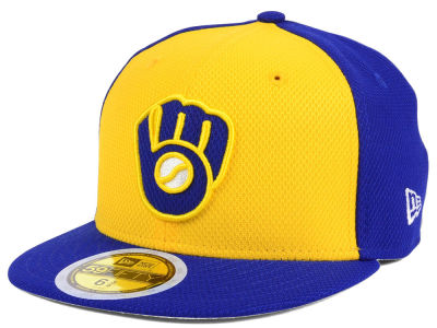 Milwaukee Brewers New Era 2017 MLB Kids Batting Practice Diamond Era 59FIFTY Cap