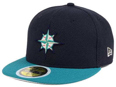 Seattle Mariners New Era 2017 MLB Kids Batting Practice Diamond Era 59FIFTY Cap